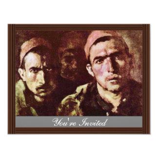 Turkish Prisoners By Grigorescu Nicolae 11 Cm X 14 Cm Invitation Card