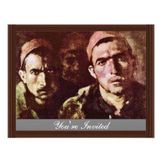 Turkish Prisoners By Grigorescu Nicolae Personalized Invite