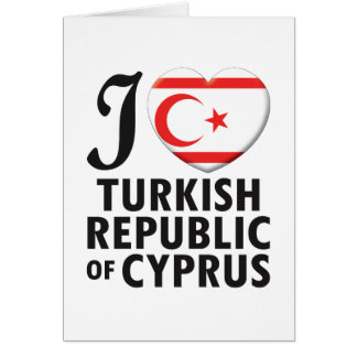Turkish Republic Of Cyprus Love Greeting Card