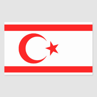 Turkish Republic of Northern Cyprus Rectangular Sticker