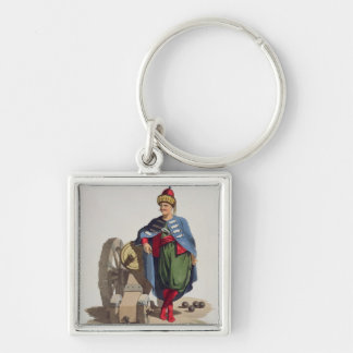 Turkish Soldier, from 'Costumes of the Various Nat Keychains