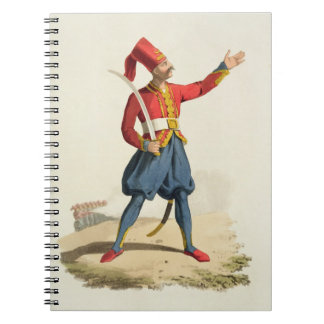 Turkish soldier, from 'Costumes of the Various Nat Spiral Notebook