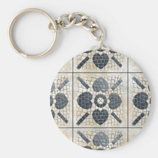 TURKISH TILE BASIC ROUND BUTTON KEY RING