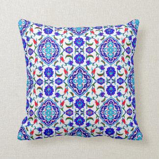 Turkish Tile inspired Design Throw Pillow