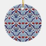 Turkish tile Ornament Christmas Ornaments