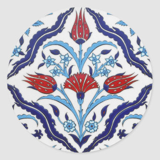 Turkish tile Round Sticker