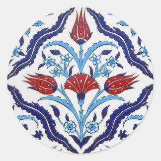 Turkish tile Round Sticker Round Sticker