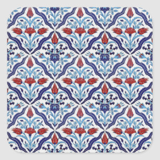 Turkish tile Square Sticker Square Stickers