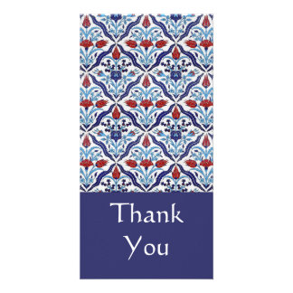 Turkish tile Thank You Photo Card Photo Greeting Card