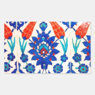 turkish tiles 3 rectangular sticker