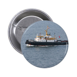 Turkish tugboat in Istanbul Pinback Button