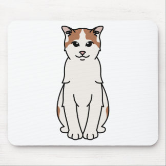Turkish Van Cat Cartoon Mouse Mat