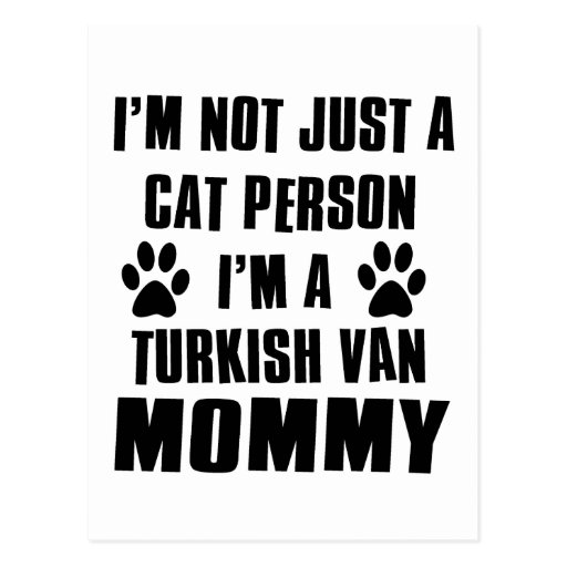 Turkish Van Cat Design Postcard