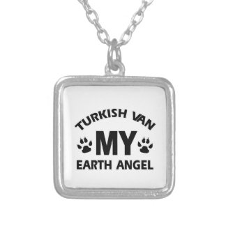 TURKISH VAN cat Square Pendant Necklace