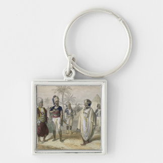 Turkish Volunteers' Camp, from 'Constantinople and Silver-Colored Square Key Ring