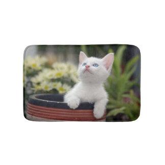 Turkish White Kitten (2.5 Months Old ) Bath Mat