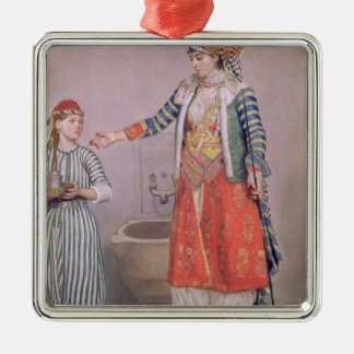 Turkish Woman with her Servant Christmas Ornament