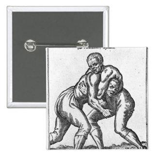 Turkish Wrestlers 15 Cm Square Badge