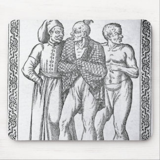 Turkish Wrestlers Mouse Pad