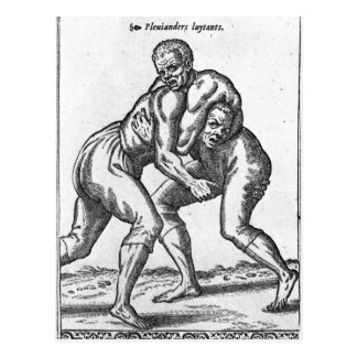 Turkish Wrestlers Postcard