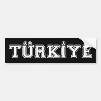 Türkiye Bumper Sticker