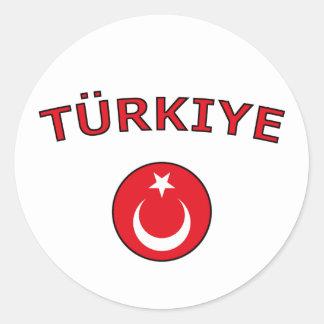 Turkiye Classic Round Sticker