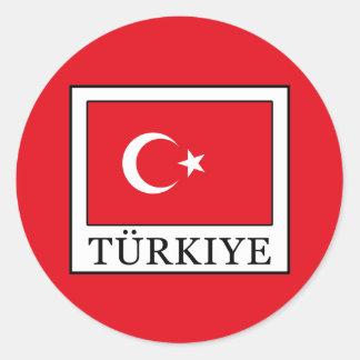 Türkiye Classic Round Sticker