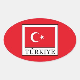 Türkiye Oval Sticker