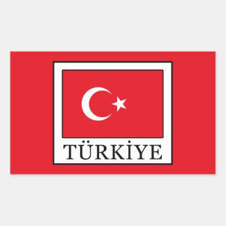 Türkiye Rectangular Sticker