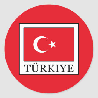 Türkiye Round Sticker