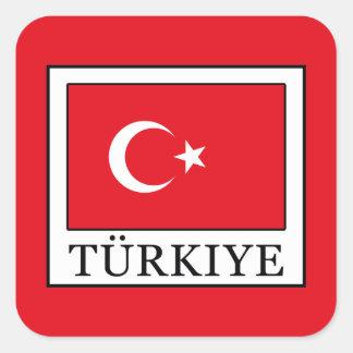 Türkiye Square Sticker