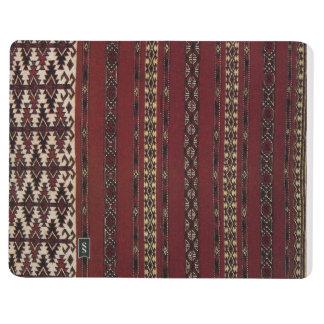 Turkmen Carpet Pattern Notebook Journals