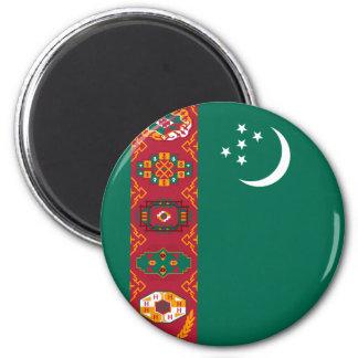 turkmenistan 6 cm round magnet