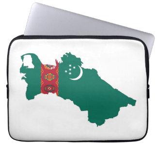 turkmenistan country flag map shape symbol laptop sleeve