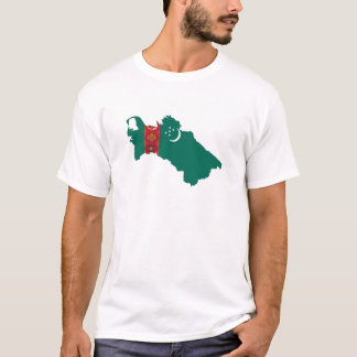 turkmenistan country flag map shape symbol T-Shirt