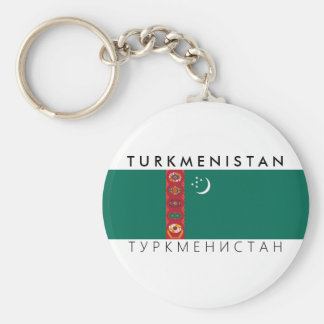 turkmenistan country flag name text symbol key ring