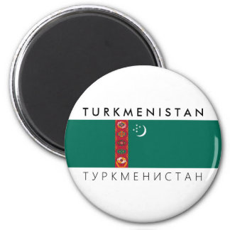 turkmenistan country flag name text symbol magnet