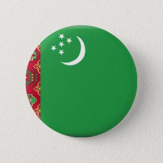 Turkmenistan Flag 6 Cm Round Badge