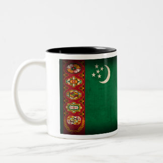Turkmenistan Flag Distressed Mug