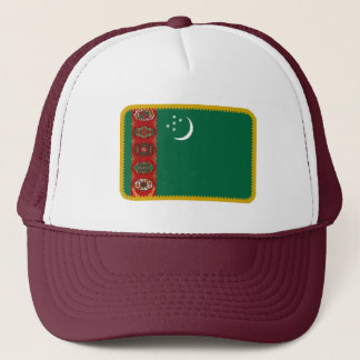 Turkmenistan flag embroidered effect hat