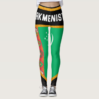 Turkmenistan Flag Leggings