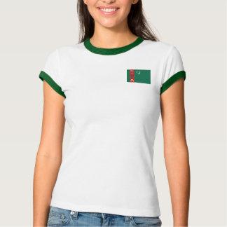 Turkmenistan Flag + Map T-Shirt