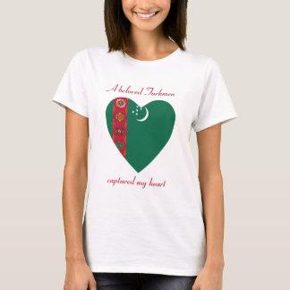 Turkmenistan Flag Sweetheart T-Shirt