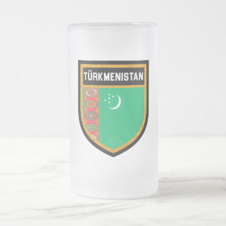 Turkmenistan Frosted Glass Beer Mug