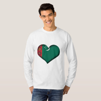 Turkmenistan Heart Flag T-Shirt