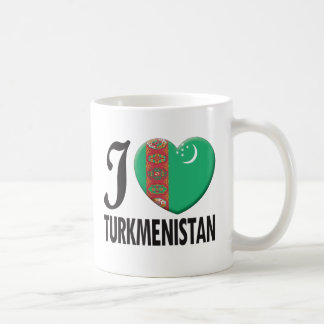 Turkmenistan Love Basic White Mug