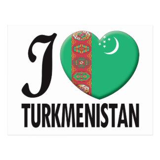 Turkmenistan Love Postcard