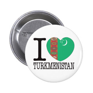 Turkmenistan Love v2 6 Cm Round Badge