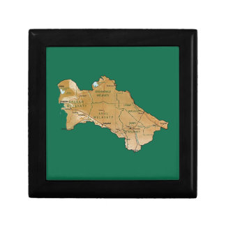 Turkmenistan Map Gift Box
