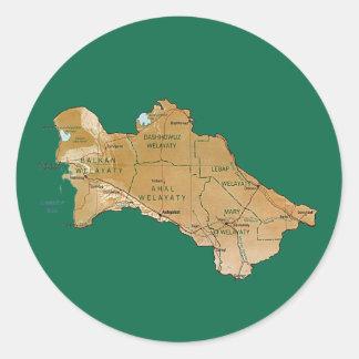 Turkmenistan Map Sticker